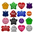 Pet Id Tags 8 Lines Of Engraving Available Size Small Or Large Bone Round Star Heart Hydrant Paw Cat Face 9 Colors Dog Tag Cat Tag Personalized Anodized Aluminum