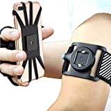 Quick Mount Phone Armband for iPhone Xs Max/XS/XR/X/8 plus/8/7/7 Plus/6, Samsung Galaxy S10 Plus/S10/S10e/Note 9/Note 8, Detachable Workout Sports Arm Band, Phone Holder for Running Hiking Biking