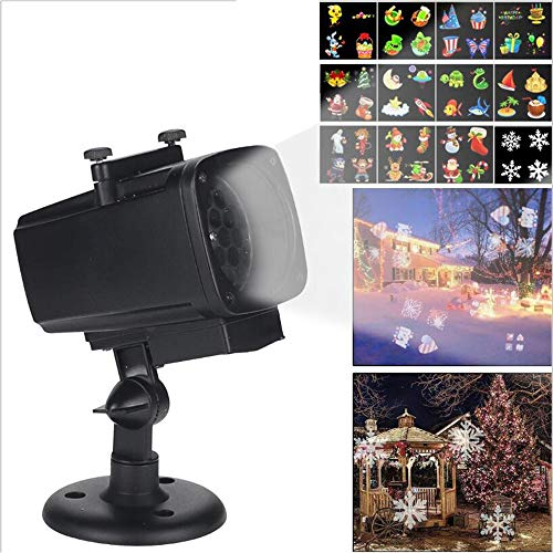 LED Snowflake Lights Projector Halloween Decorations Has 12 Bright and Clear Colourful Patterns in Rear Garden Over Xmas (UK Plug) -