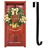 Yuccer Wreath Hanger for Front Door Wreath Metal Hook Kitchen Wreath Coat Towel Holder Large