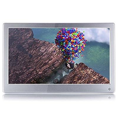 Digital Photo Frame 12-inch Metal IPS 19201080 HD Multi-Function Music Video Player Calendar Clock Electronic Album Advertising Machine