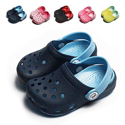 KaKaKiKi Toddler Kid Slipper Boy Girl Sandal Garden Shoe Cartoon Comfort Clogs Summer Slip On Backstrap Water Beach Pool Lightweight Shoe