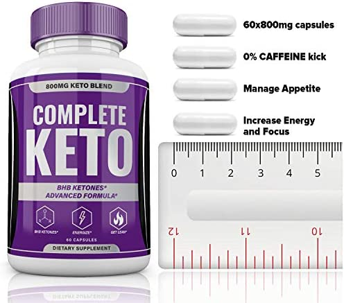 Complete Keto Pills 800mg, Keto Complete Diet Pills Capsules BHB Supplement, Complete Ketogenic Diet for Beginners, BHB Ketones Slim Pills for Energy, Focus - Exogenous Ketones for Men Women 6
