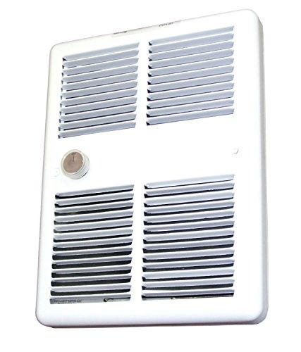 - TPI HF3222T2RPW Series 3200 Midsized Fan Forced Wall Heater w/ 2 Pole Thermostat, Standard, White, 2250/1688 W