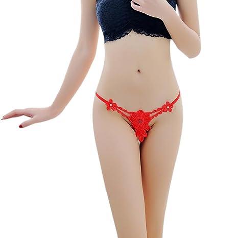 YanHoo Ropa Interior Ropa interior femenina Lencería sexy Perspectiva floral Tentación Vendaje cintura baja Diseño de
