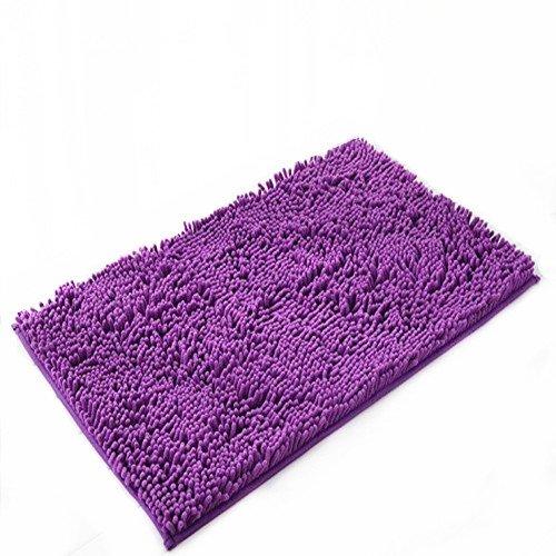 Ustide Purple Modern Home Decorator Shaggy Rugs Non Slip Floor Mat Absorbent Bath Mat Soft Chenille Rug Carpet