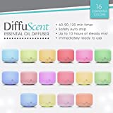 Electric Essential Oils Diffuser by Naska   3rd Gen. Ultrasonic Personal Home Aromatherapy Air Humidifier & Diffuser   Mist Mode Waterless Auto Shut-off   16 Colors Light   500ml 17oz
