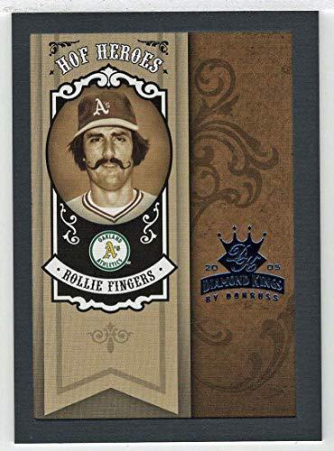 Rollie Fingers 61/100 (Baseball Card) 2005 Donruss Diamond Kings HOF Heroes Framed Blue # HH-91 NM/MT
