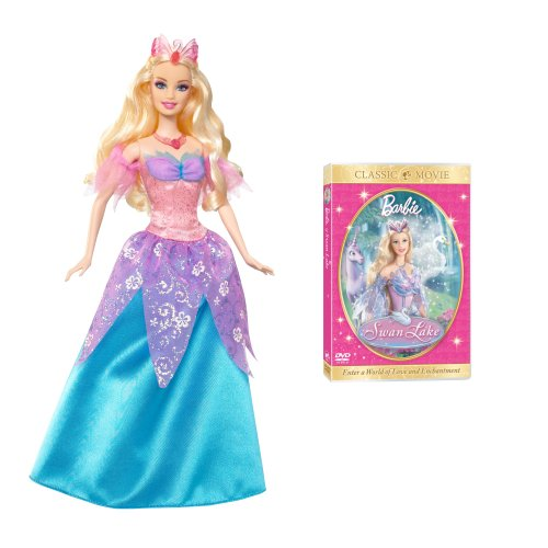 Barbie Swan Lake Odette Doll and Dvd Giftset
