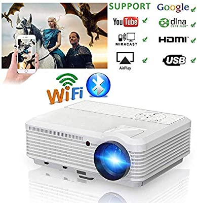 AI LIFE Video proyector WiFi inalámbrico Bluetooth 6000 Lumen ...