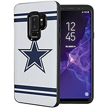 Capsule Case Compatible with Samsung Galaxy S9 Plus [Embossed Diagonal Lines Hybrid Dual Layer Slim Armor Black Case] for Samsung Galaxy S9+ Plus - (Cowboy)