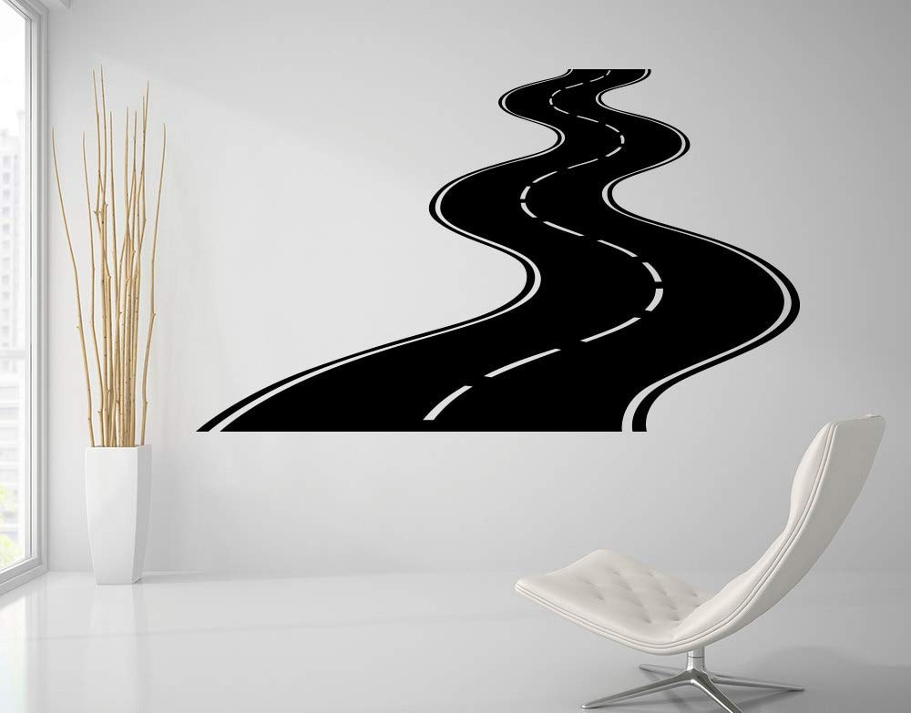 Ajcwhml Road Wall Decal Highway Etiqueta de Vinilo Street Wall Art Kids Racing Road Bedroom Living Roon Decoración del Hogar Extraíble DIYcm 53x89cm: Amazon.es: Hogar