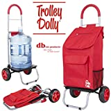 dbest products Trolley Dolly, Black Shopping Comida, Sólido, Rojo, 1