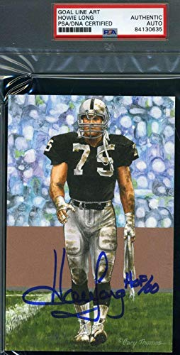 Howie Long Autograph - HOWIE LONG Autograph Goal Line Art Card GLAC Hand Signed - PSA/DNA Certified - Football Slabbed Autographed Rookie Cards