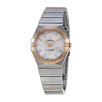 3b62f8560a4 Image Unavailable. Image not available for. Color  Omega Constellation  Mother Of Pearl Dial Gold and Steel Ladies Watch 12320276005001