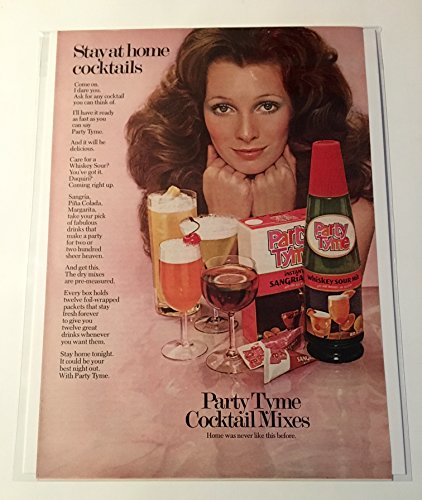 1972 Party Tyme Cocktail Mixes Magazine Print Advertisement