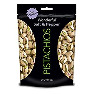 Wonderful Pistachios, Salt and Pepper Flavored, 7 Ounce Resealable Pouch