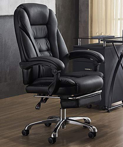 LYJBD Skrivbordsstolar med hjul chef kontor verkställande kommersiell svängbar stol ergonomisk svängbar stol tjock sits kudde chef kontorsprodukter