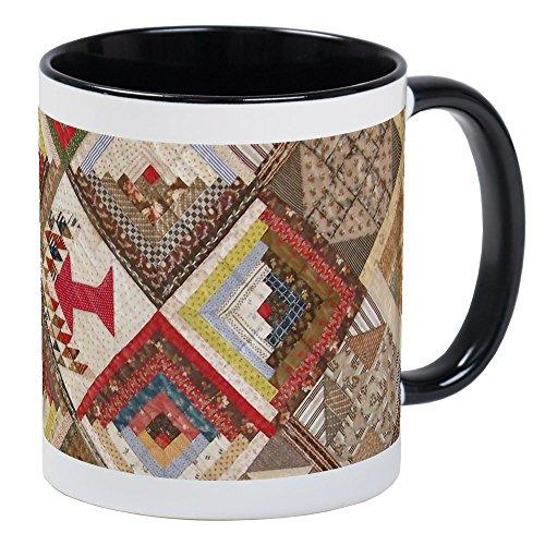 CafePress Vintage Underground Railroad Quilt Mug Unique Coffee Mug, Coffee Cup (Quilt Patterns Used In The Underground Railroad)