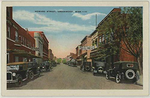 Downtown Greenwood Mississippi - Vintage 1931 Postcard
