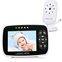 Baby Monitor With Camera 3.5 Two Way Talk Audio Night Vision Video LCD Temperature System …
