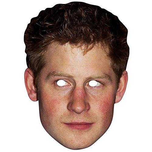 Star Cutouts Prince Harry Celebrity Face Mask (One Size) -