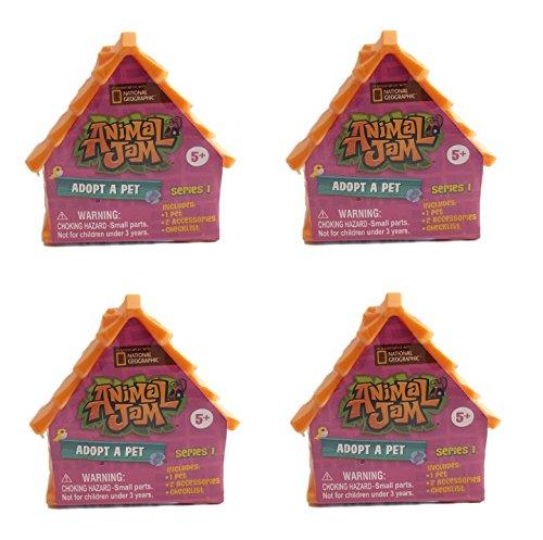 Nat Geo's Animal Jam Adopt A Pet Minifigures. Set of 4 Blind Houses.