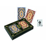 Springbok KEM Paisley Playing Cards: 2 Deck Set Red and Blue, Standard Index