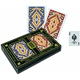 KEM Paisley Playing Cards: 2 Deck Set Red and Blue, Standard Index