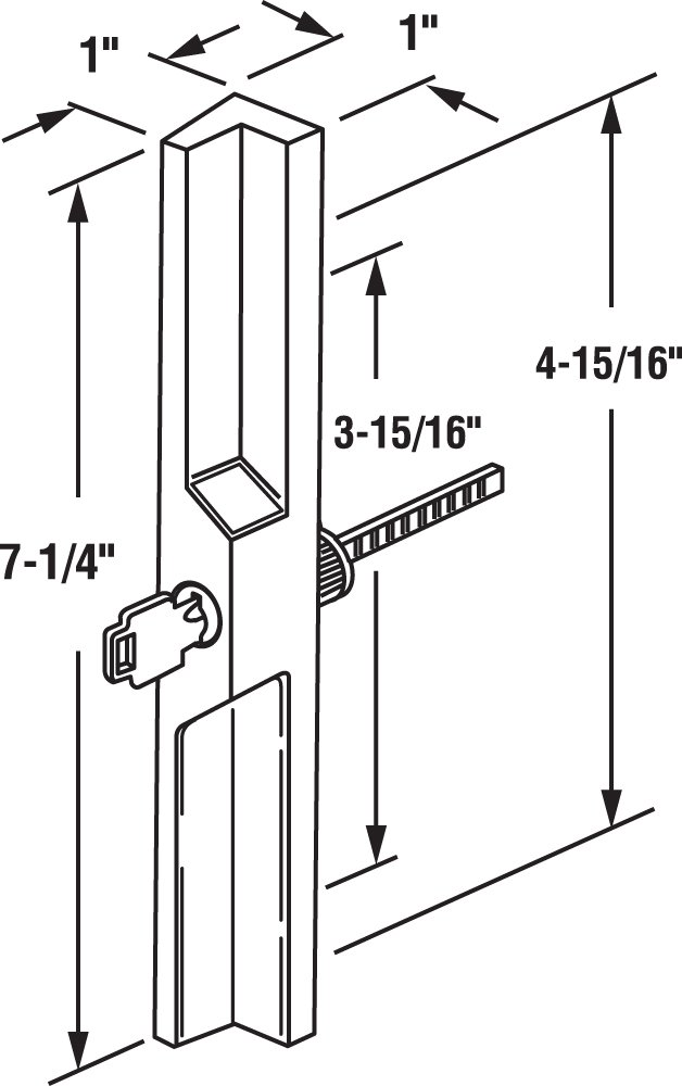 Almond Diecast Prime-Line Products C 1121 Sliding Door Outside Pull with Key