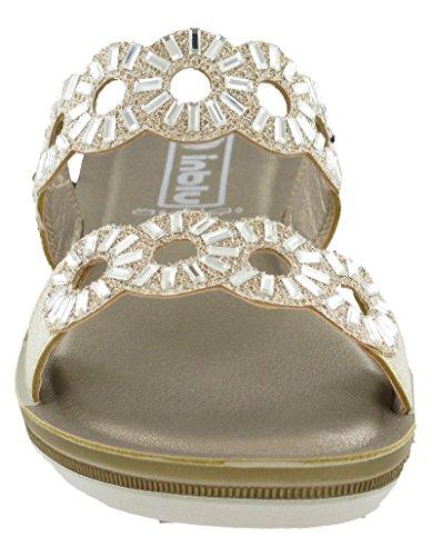 Sandales Ba007 Bride Blu Cheville In Femme Glamour White TnqAyycEw