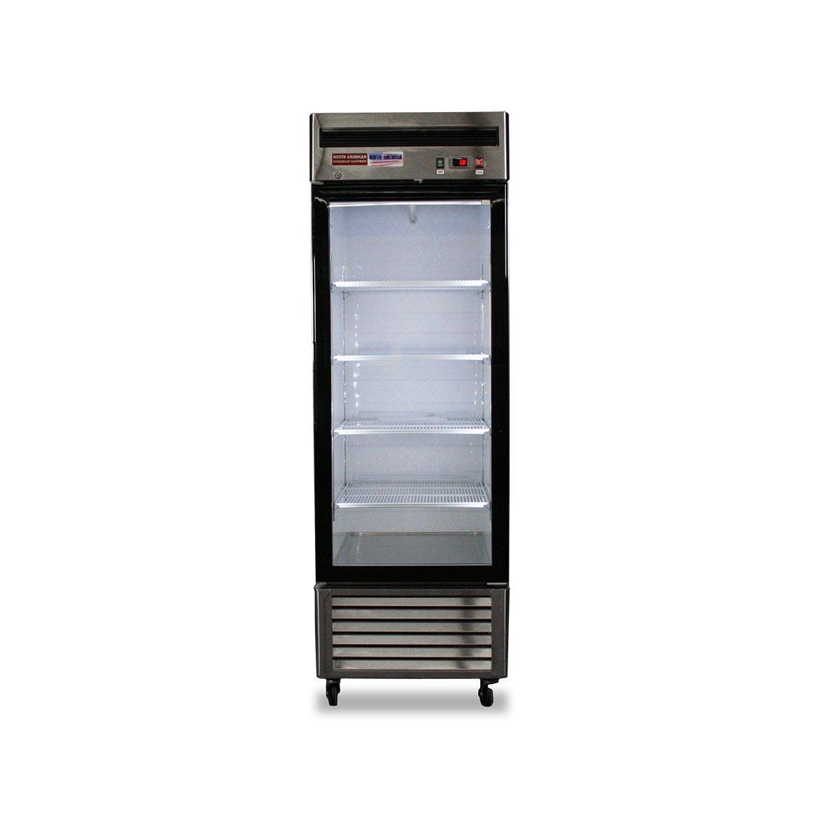 North American Restaurant Equipment 1 Door Glass FREEZER Single Reach In Frozen Food Display