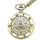 Gravity Falls Bill Cipher Wheel Bronze Finish Pocket Watch