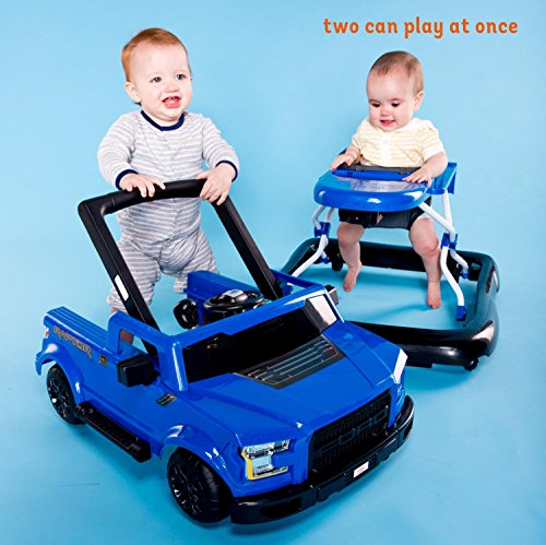 51fLpauQvlL - Bright Starts 3 Ways to Play Walker - Ford F-150 Raptor, Lightning Blue, Ages 6 months +
