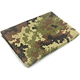 Silfrae Tactical Sniper Veil, Mesh Net Camo Scarf For Outdoor Activities (Italy Camo)