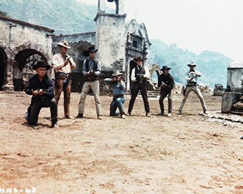 Globe Photos ArtPrints Magnificent Seven Cowboy'S Gunfight I