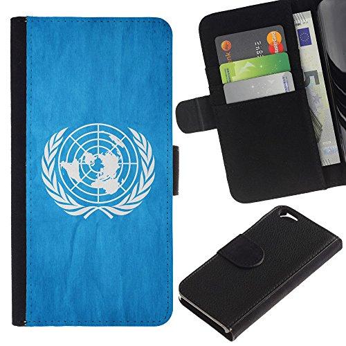 EuroCase - Apple Iphone 6 4.7 - United Nationas Grunge Flag - Cuir PU Coverture Shell Armure Coque Coq Cas Etui Housse Case Cover