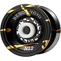 Professional Magic Yoyo N12 Overlord Aluminum Alloy Metal Yoyo black gold