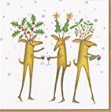 Reindeer Christmas Cocktail Napkins Christmas Party Holiday Party Paper Napkins Reindeer Pk of 40