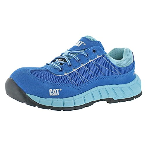Caterpillar Womens Exact Slip Resistant Work Shoes Blue 5.5 Wide (C,D,W)