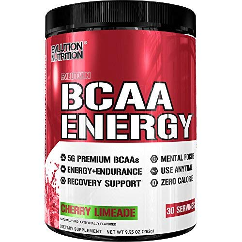 Evlution Nutrition BCAA Energy - High Performance Amino Acid Supplement for Anytime Energy, Muscle Building, Recovery & Endurance, Pre Workout, Post Workout (Cherry Limeade, 30 ()