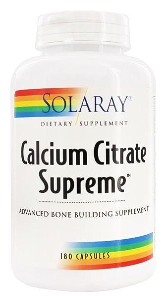 Solaray - Calcium Citrate Supreme, 180 capsules