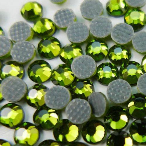 (NEW ThreadNanny CZECH Quality 10gross (1440pcs) HotFix Rhinestones Crystals 4mm/16ss Lime Green (Peridot) Color )