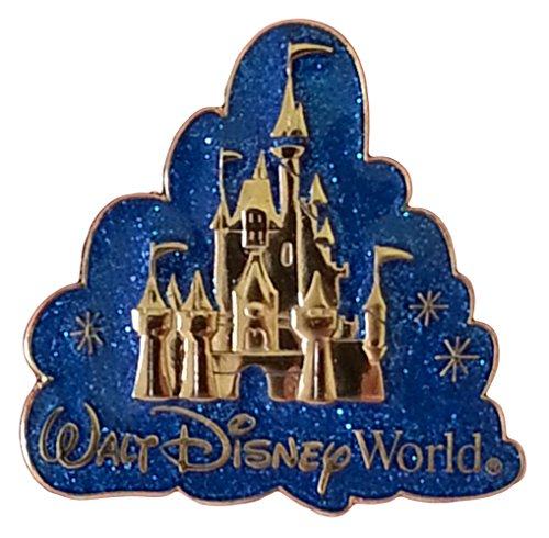 Cinderella's Castle in Blue Glitter Cloud Disney (Blue Cinderella Castle)