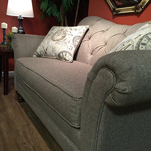 Metropolitan Dark Beige Fabric Upholstery Wood Frame Living Room Collection