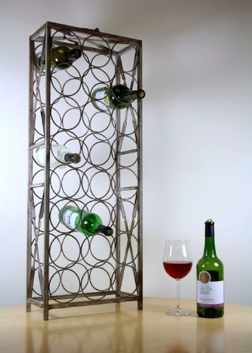 24 Bottle metal wine rack Cranville wine racks