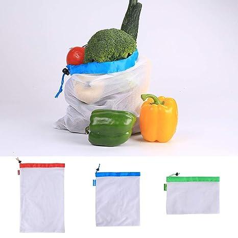 Chiic - Bolsas Reutilizables de Malla para la Compra ...