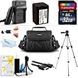 32GB Accessory Kit For Sony HDR-PJ380/B, FDR-AX100 HDR-CX900, FDRAX33/B, FDR-AX53, FDRAX53/B Camcorder Includes 32GB High Speed SD Memory Card + Replacement NP-FV70 Battery + Charger + Case + Tripod + More