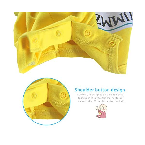 """Culbutomind Tutina per neonati con scritta """"Yummz Pomodoro Ketchup"""", mostarda, rosso, giallo, completo bimbi e bimbe… 4"""