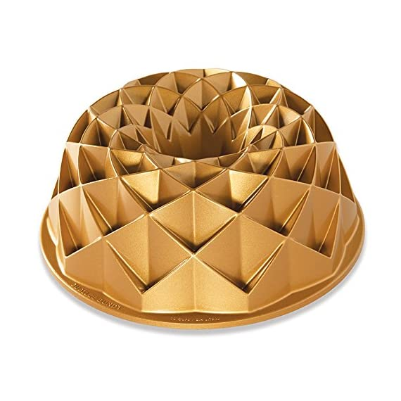 "Nordic Ware Jubilee Bundt Pan, Metallic 1 Cast aluminum provides superior baking performance Holds 10 cups of batter Measures 11""L x 5.56""W x 2.13""H"